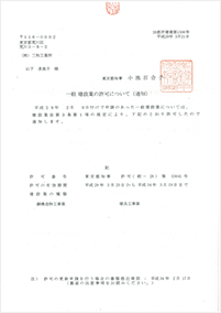 建設業許可証 建具工事業
